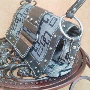 Guess monogrammed clutch purse